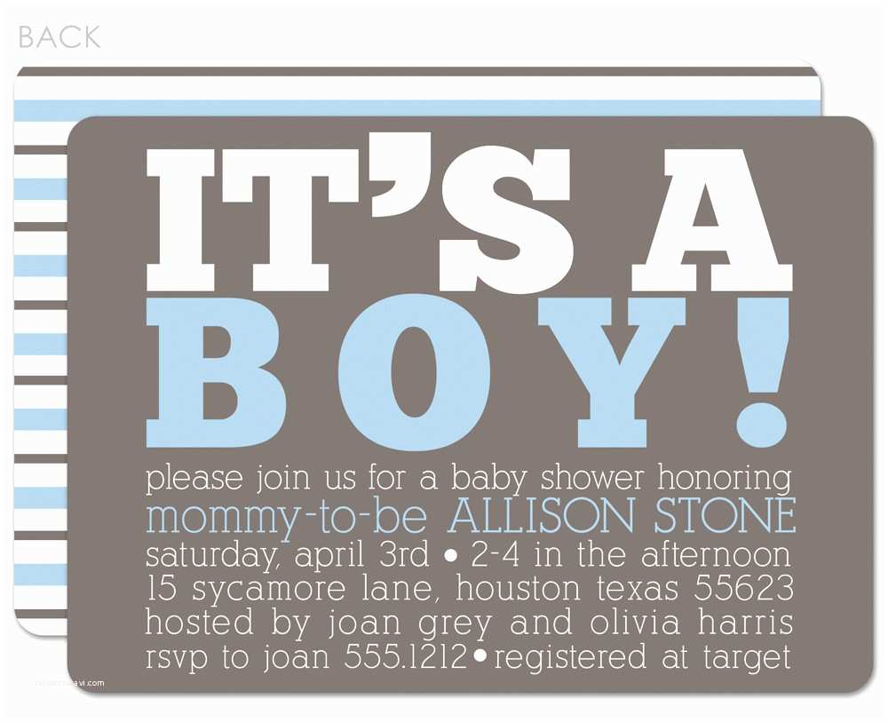 Baby Shower Invitations for Boys Baby Boy Baby Shower Invitations