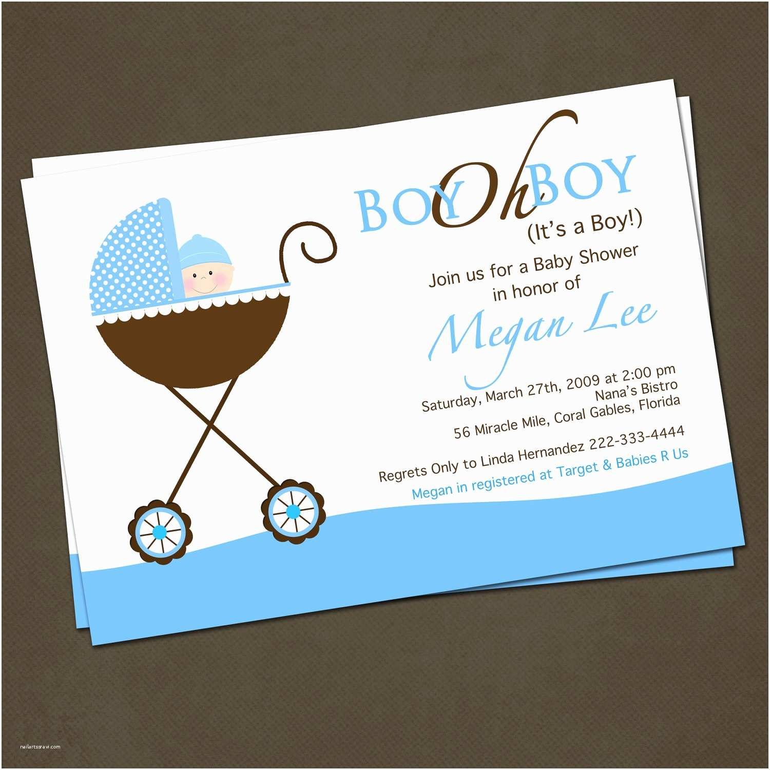 Baby Shower Invitations for Boys Baby Shower Invitation Ideas