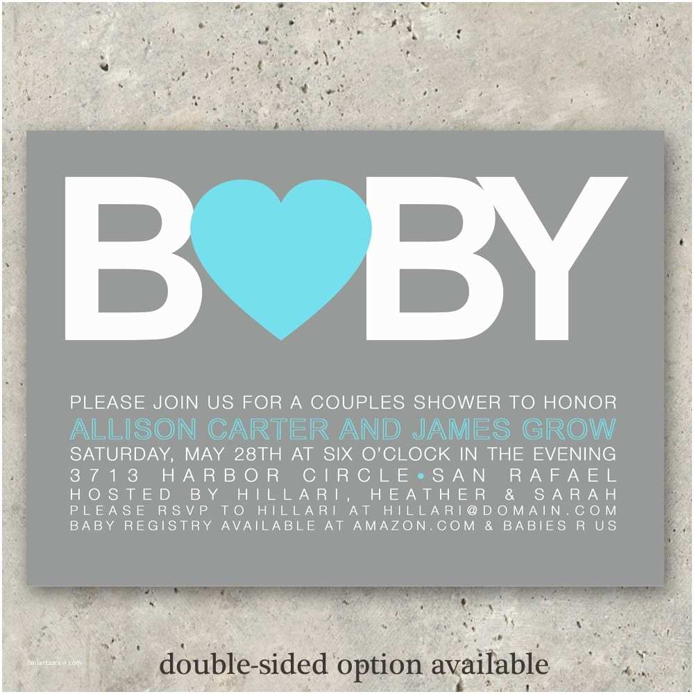 Baby Shower Invitations for Boys Baby Shower Invitations Boy or Girl Big Baby by Minkcards
