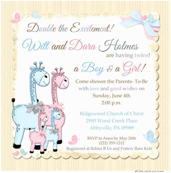 Baby Shower Invitations for Twins Twins Baby Shower Invitations