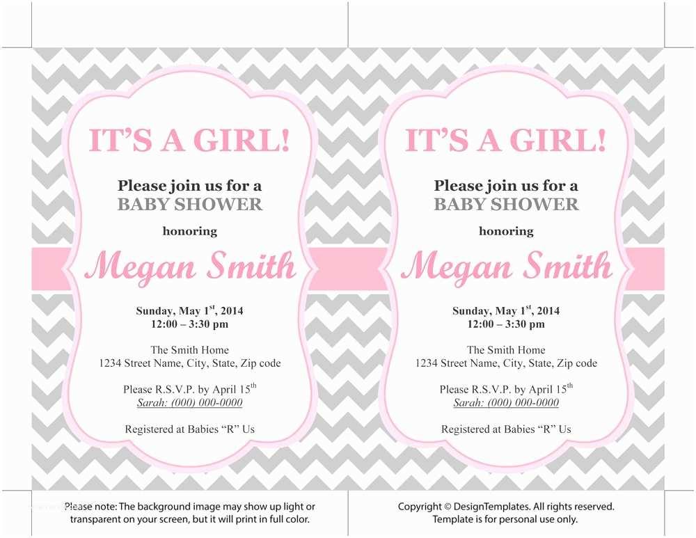 Baby Shower Invitations Free Baby Girl Shower Invitations Free