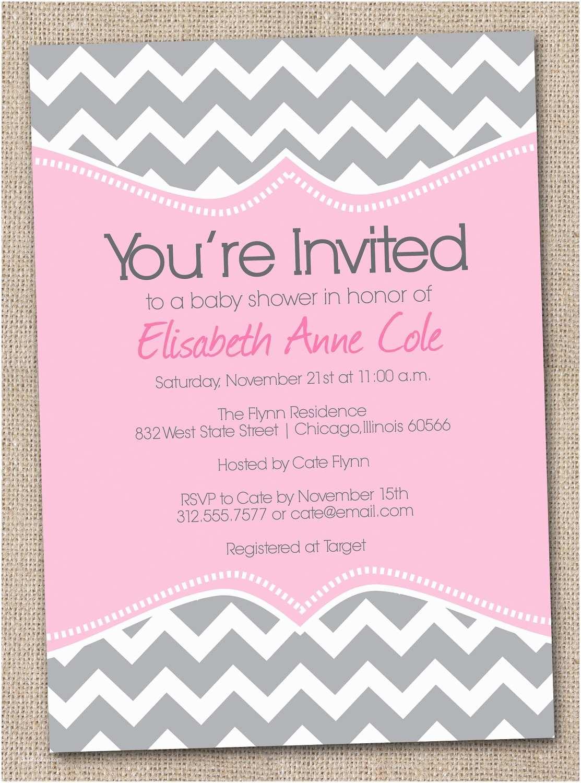 Baby Shower Invitations Free Free Printable Chevron Baby Shower Invitations