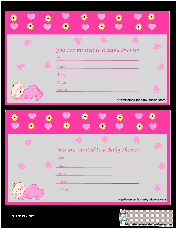 Baby Shower Invitations Free Free Printable Girl Baby Shower Invitations