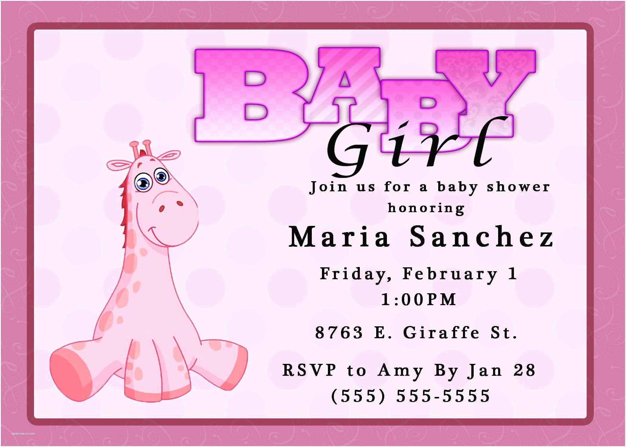 Baby Shower Invitations Girl Baby Shower Invitation Baby Girl Shower Invitations