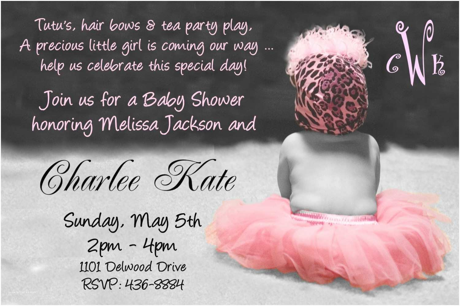 Baby Shower Invitations Girl Baby Shower Invitation Wording for A Girl
