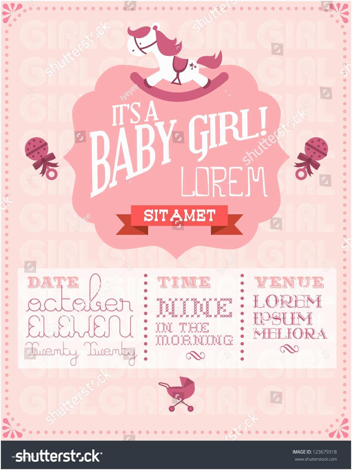 Baby Shower Invitations Girl Baby Shower Invitations for Girls Templates – Gangcraft