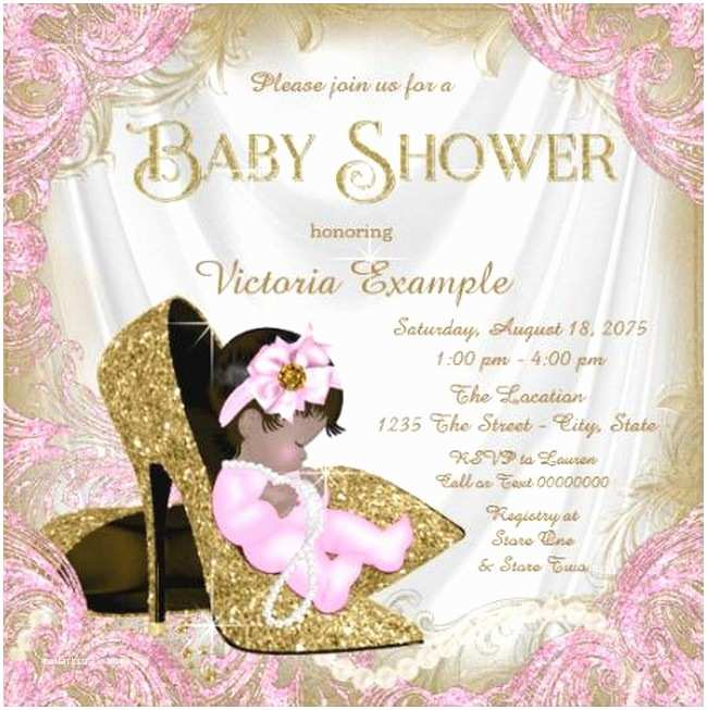 Baby Shower Invitations Girl Glitter Baby Girl Shower Invitation Sample