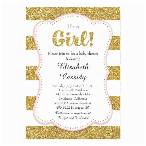 Baby Shower Invitations Girl Glitter Baby Shower Invitations