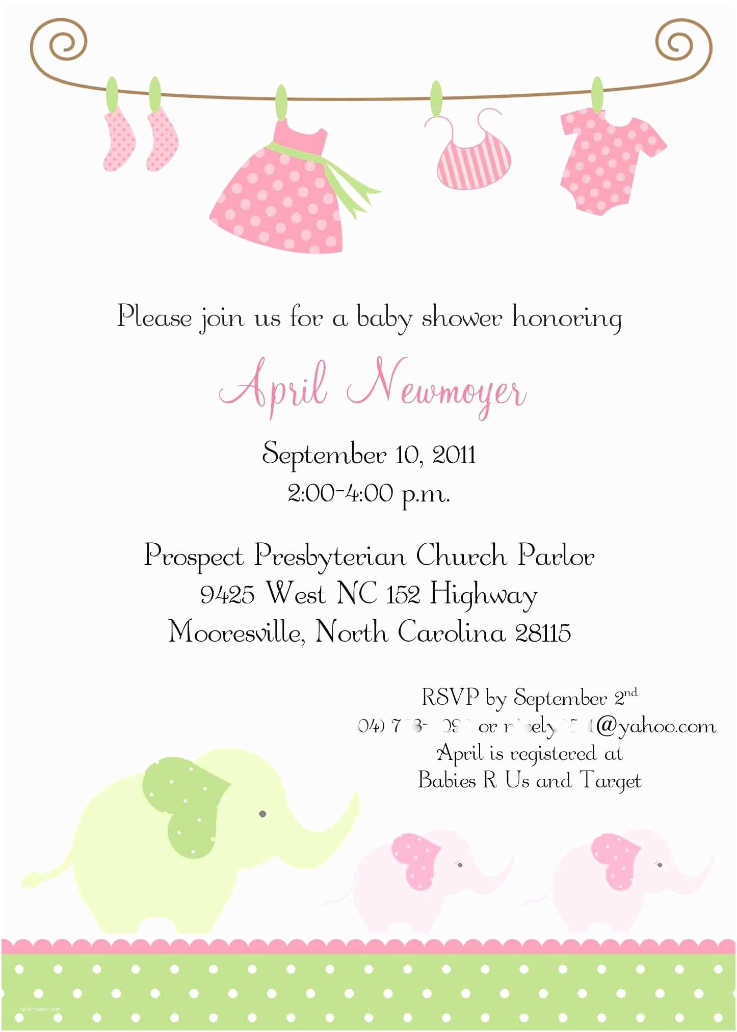 Baby Shower Invitations Girl Ideas Of Baby Shower Invitations for Girls