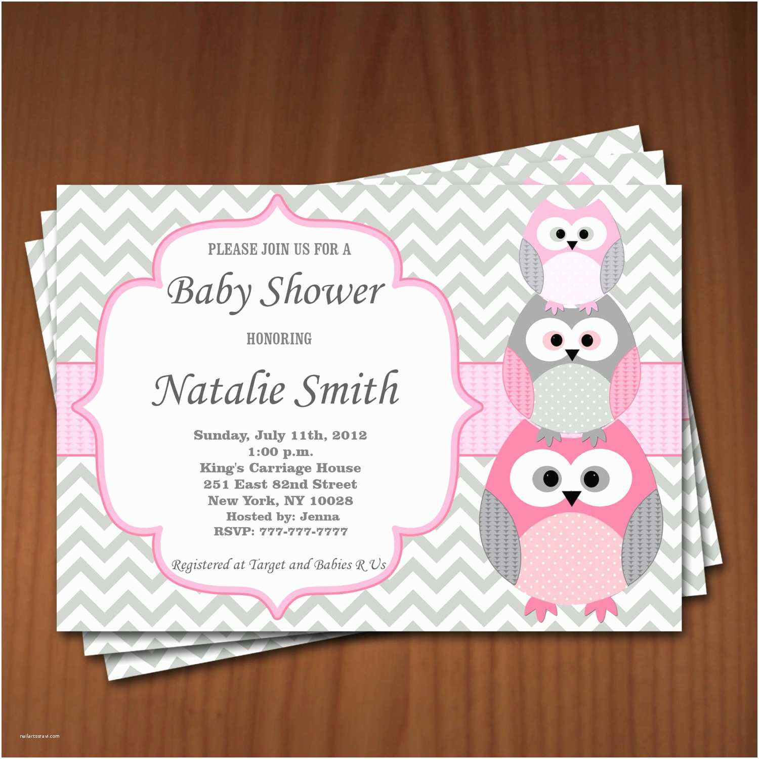 Baby Shower Invitations Girl Owl Baby Shower Invitation Girl Baby Shower Invitations