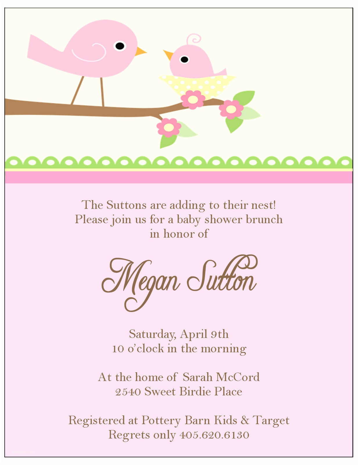 Baby Shower Invitations Girl the Sweet Peach Paperie Little Bir Baby Shower Invitations