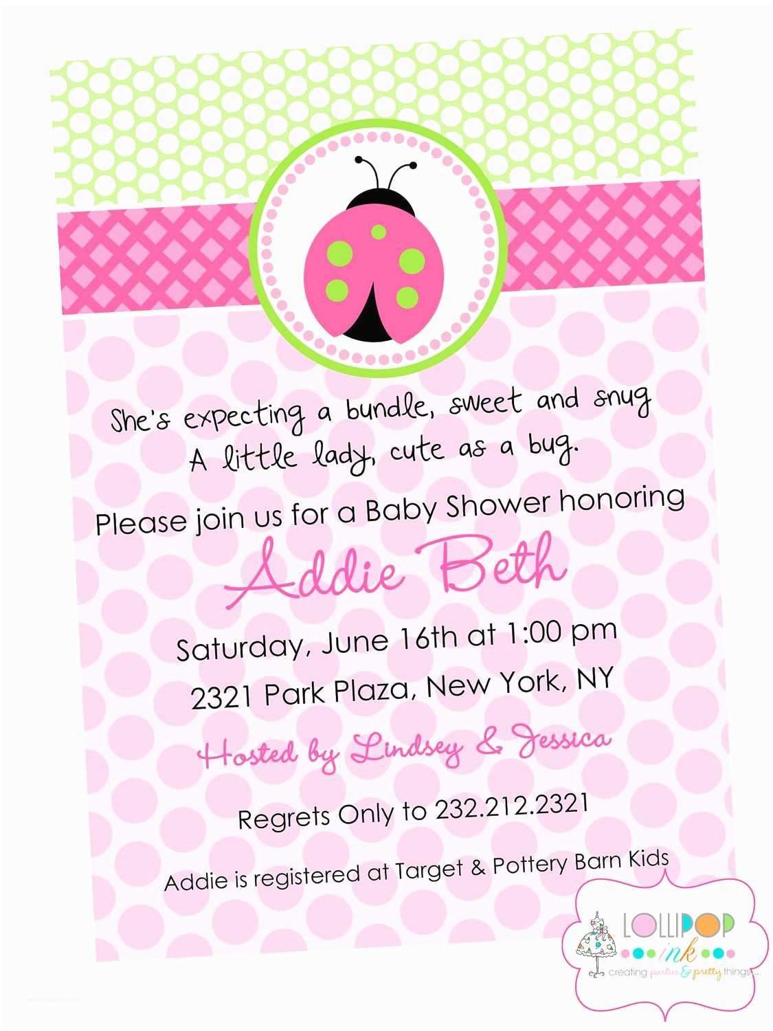 Baby Shower Invitations Girl Wording for Baby Girl Shower Invitations