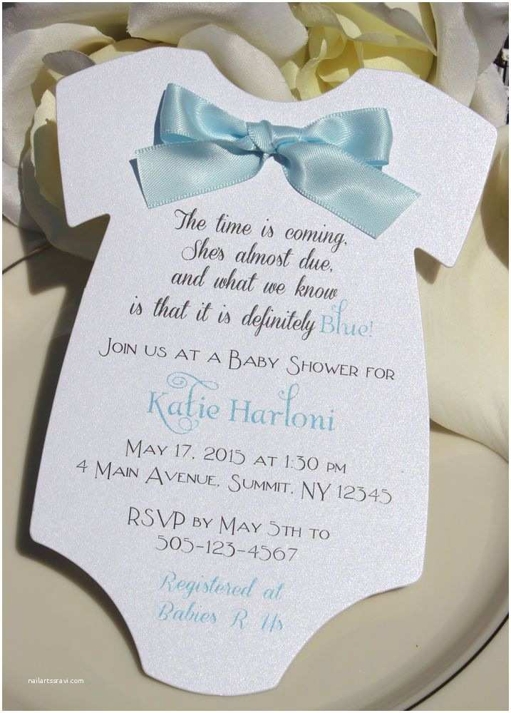 Baby Shower Invitations Ideas for Boys Baby Shower Invitation for Boy In Shape Of Esie with