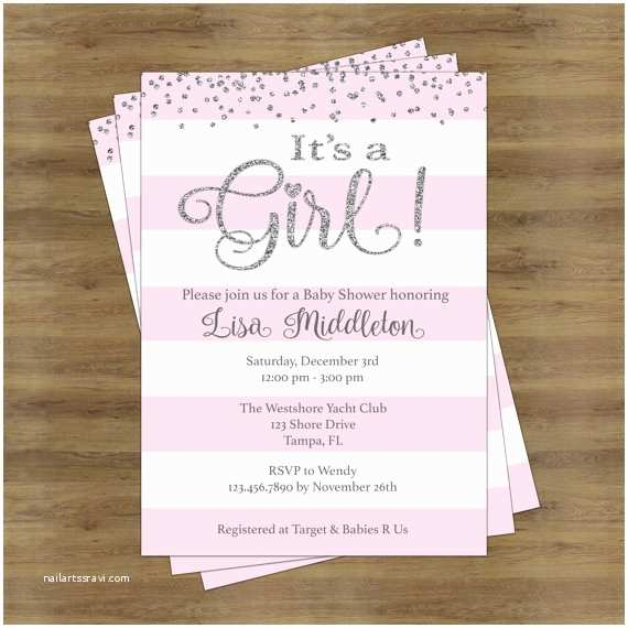 Baby Shower Invitations Ideas Its A Girl Baby Shower Invitation Girl Baby Shower Invitation