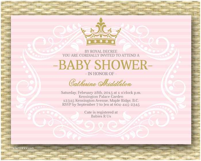 Baby Shower Invitations Online Free Printable Princess Baby Shower Invitations