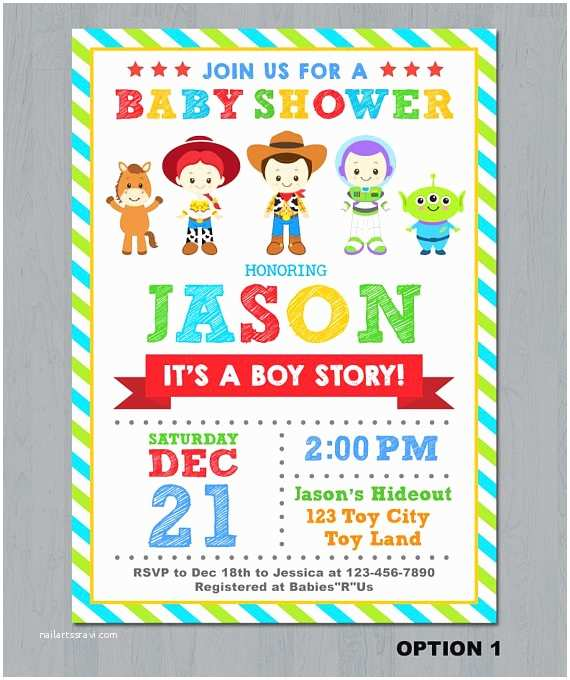 Baby Shower Invitations Party City toy Story Baby Shower Invitations Oxyline Cbc7174fbe37
