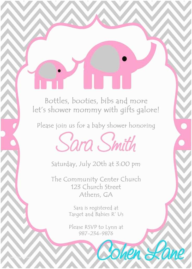 Baby Shower Invitations Templates Baby Girl Baby Shower
