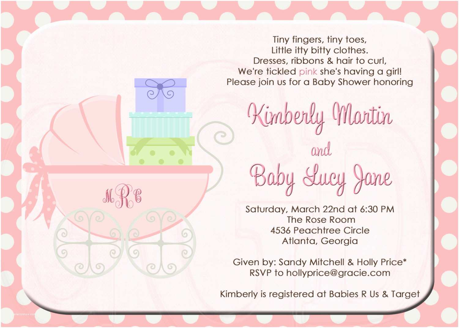Baby Shower Invitations Templates Sample Baby Shower Invitations Wording