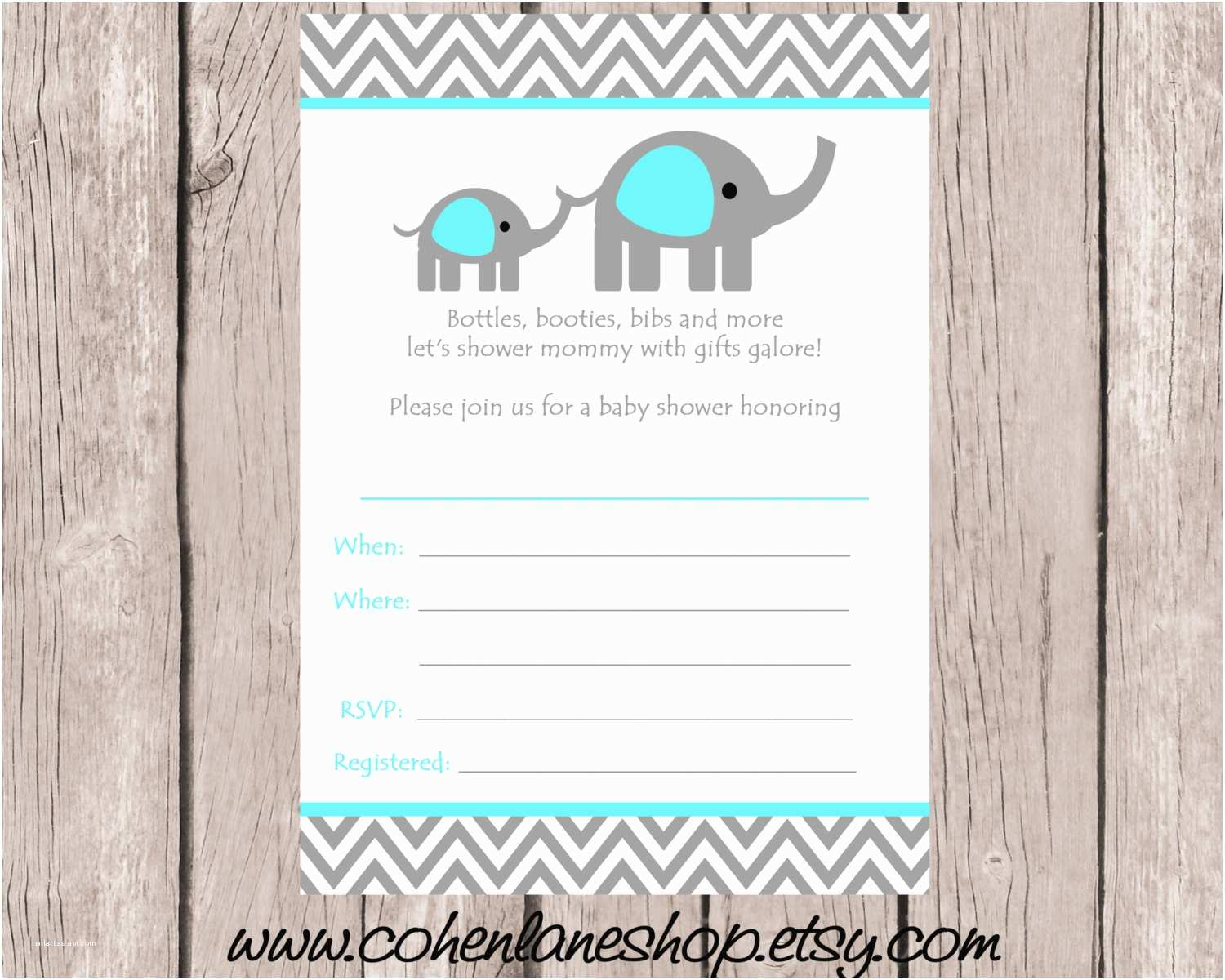 Baby Shower Invitations Templates Theme Blank Invitation