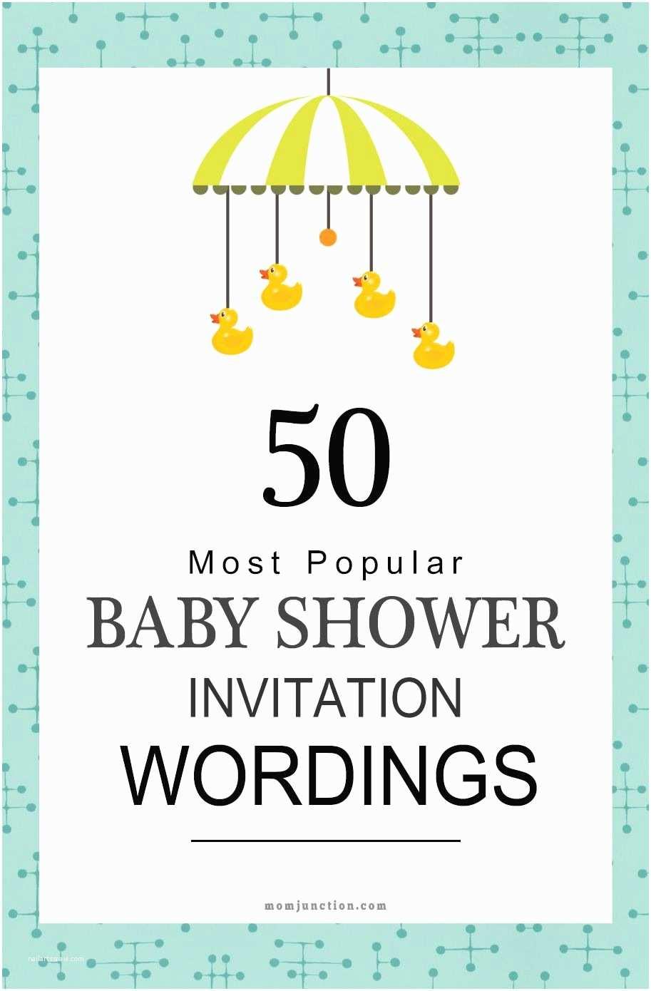 Baby Shower Invitations Wording 75 Most Popular Baby Shower Invitation Wordings