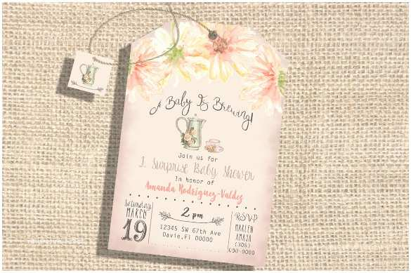 Baby Shower Tea Party Invitations 11 Tea Party Invitation Templates to Download