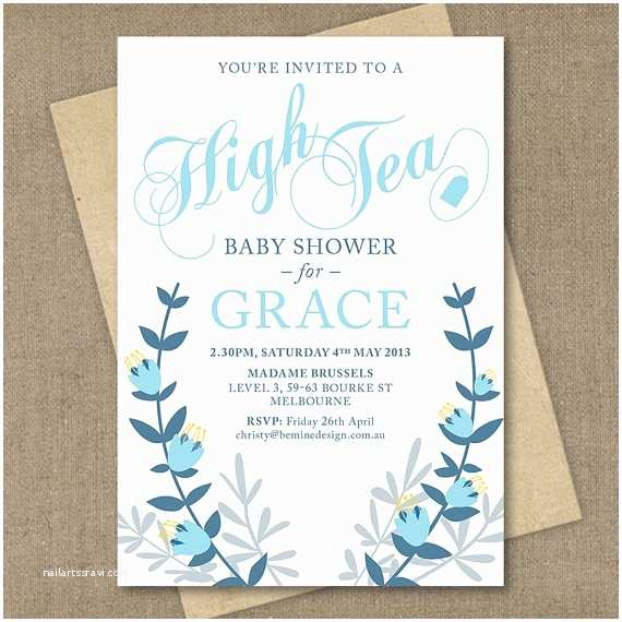 Baby Shower Tea Party Invitations 17 Best Images About Baby Shower Invites On Pinterest