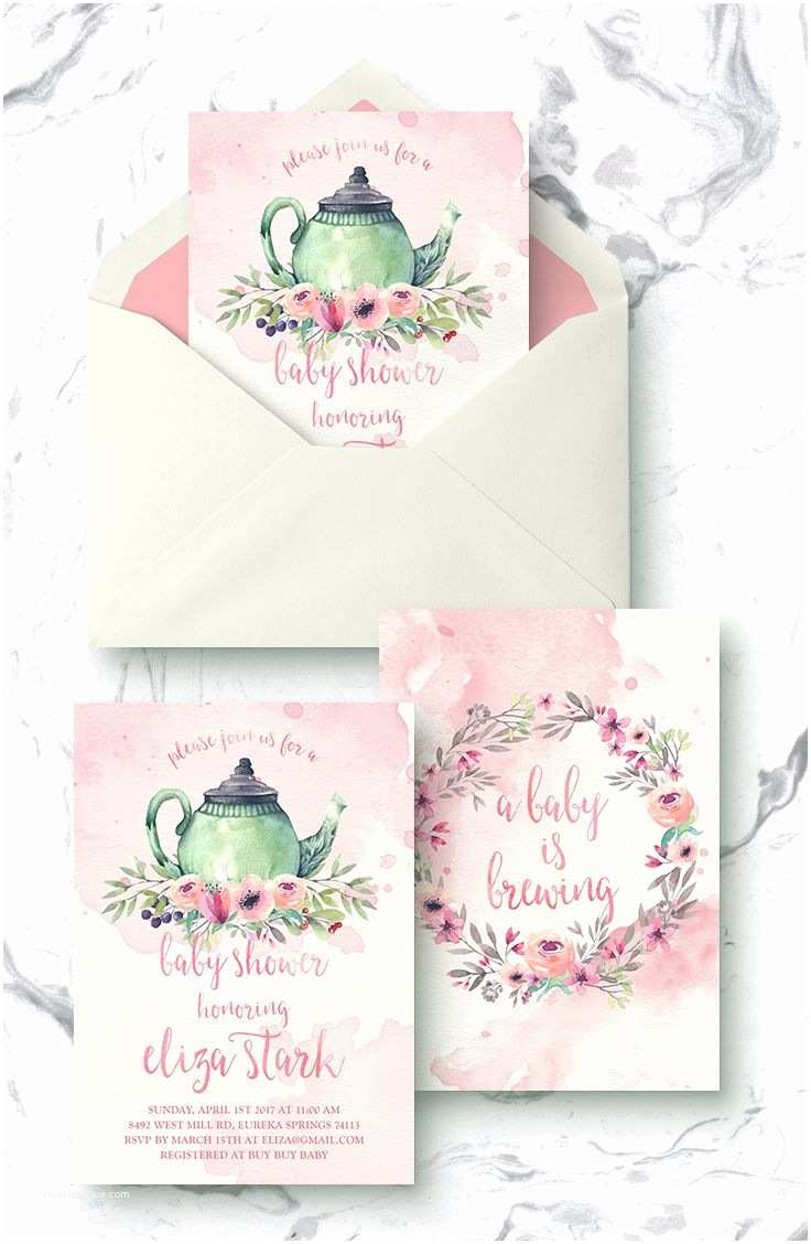 Baby Shower Tea Party Invitations Best 25 Tea Party Baby Shower Ideas On Pinterest