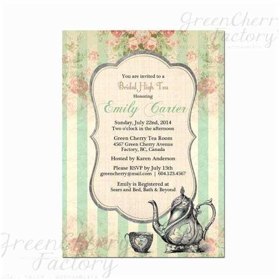 Baby Shower Tea Party Invitations Bridal Tea Party Invitation Tea Party Invitation Baby
