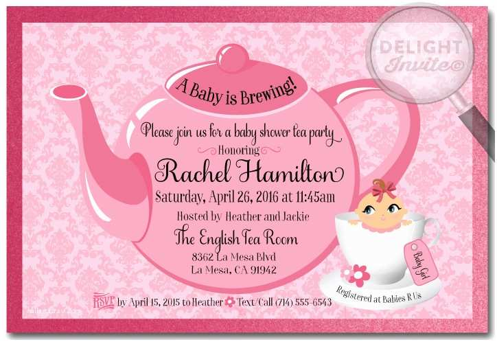 Baby Shower Tea Party Invitations Tea Party Baby Shower Invitations