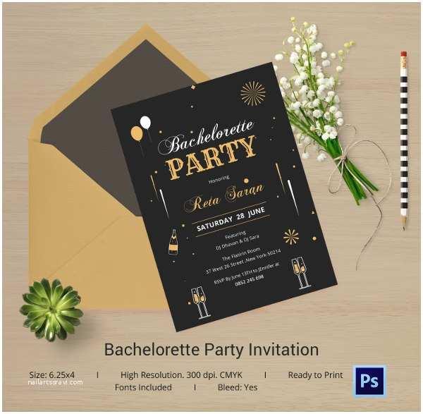 Bachelorette Invitation Template Bachelorette Invitation Template 40 Free Psd Vector