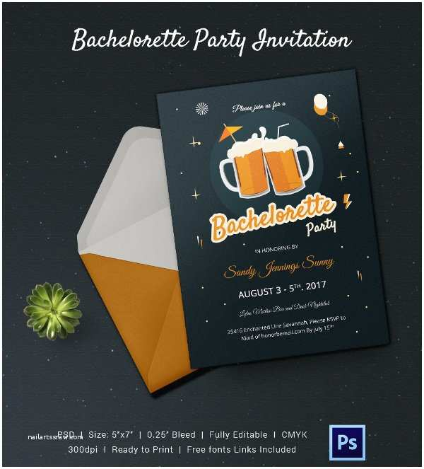 bachelorette invitation template ipad app nailartssravi