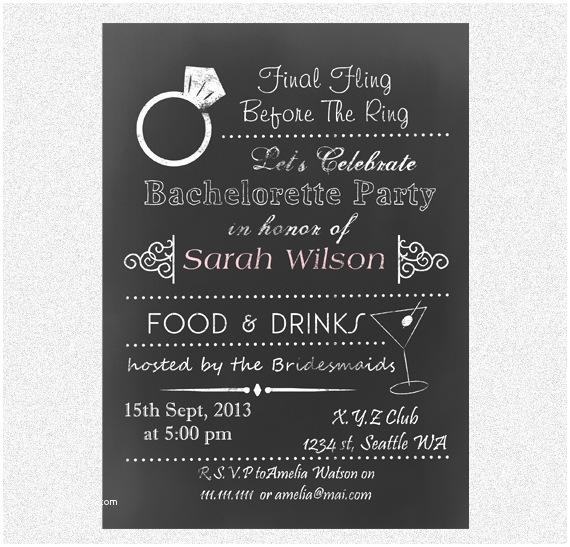 Bachelorette Invitation Template Bachelorette Party Invitation Templates