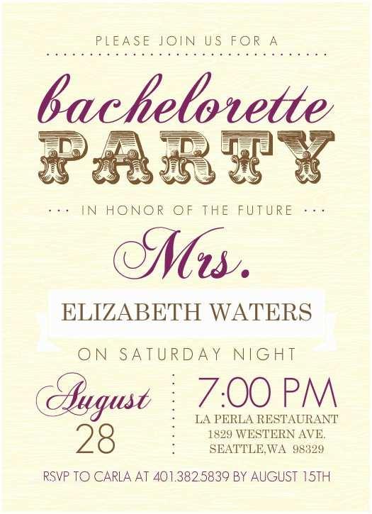 Bachelorette Invitation Template Free Bachelorette Party Invitations
