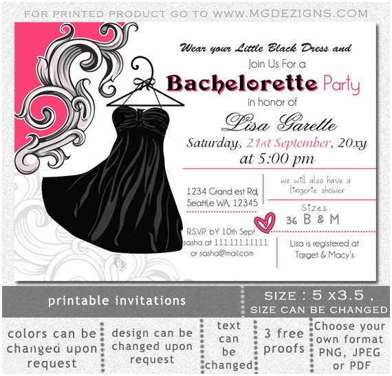 Bachelorette Invitation Template Printable Bachelorette Party Invitations – Gangcraft