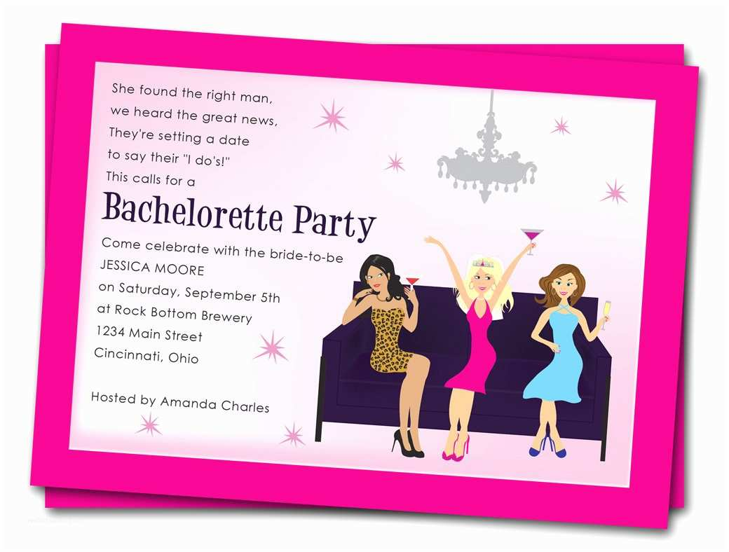 Bachelorette Invitation Template Printable Bachelorette Party Invitations Girls by