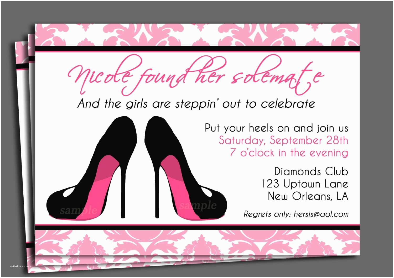 Bachelorette Invitation Wording Bachelorette Party Invitation Printable or Printed with Free
