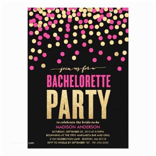 Bachelorette Invitation Wording Shimmer & Shine Bachelorette Party Invitation