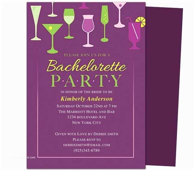 Bachelorette Invitations Printable Diy Bachelorette Party Invitations Templates