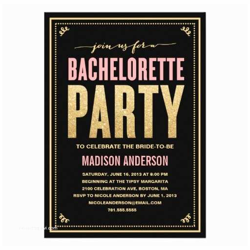 Bachelorette Invitations Shimmer & Sparkle
