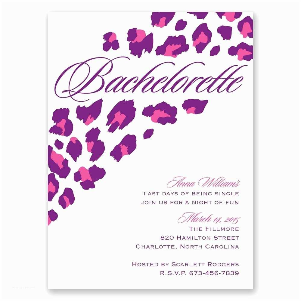 Bachelorette Invitations Wild Style Bachelorette Party Invitation