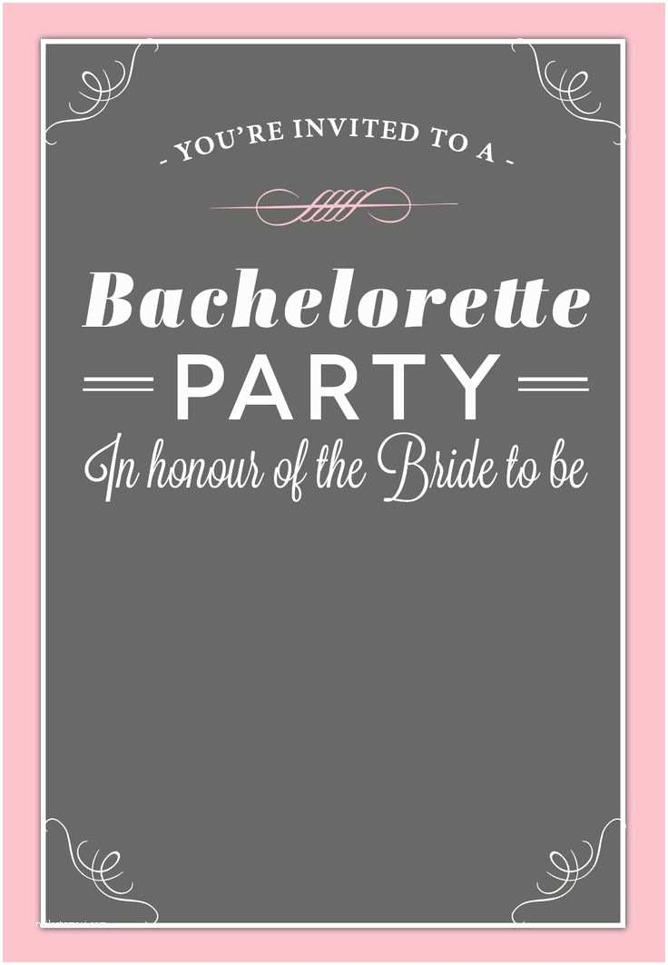 Bachelorette Party Invitation Templates Bachelorette Party Invitation Free Printable