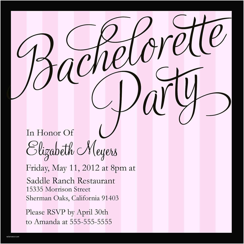 Bachelorette Party Invitation Templates