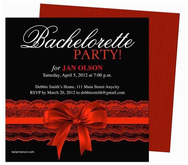 Bachelorette Party Invitation Templates Bachelorette Party Invitations Templates Scarlet Red