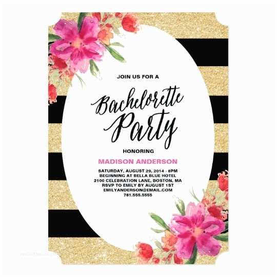 Bachelorette Party Invitation Templates Floral Glam Bachelorette Party Invitation