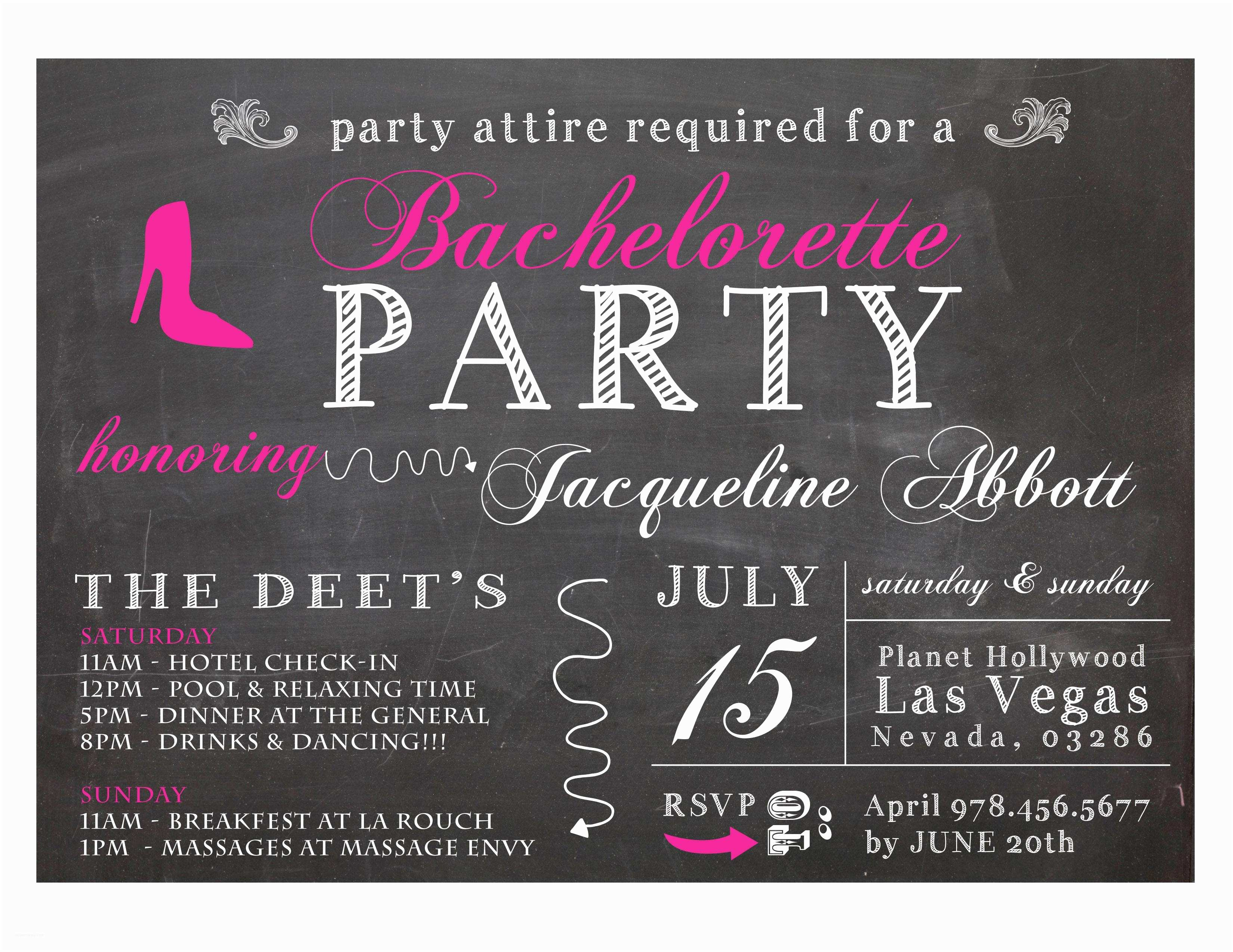 Bachelorette Party Invitation Wording Bachelor Invitations