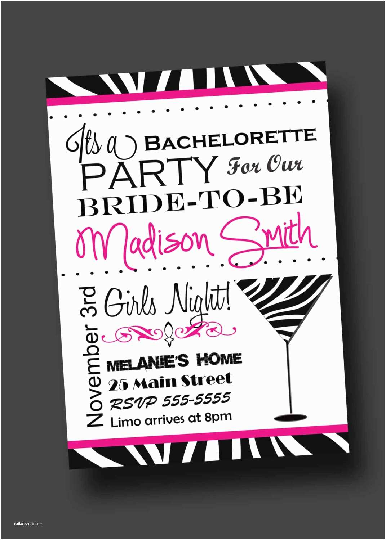 Bachelorette Party Invitation Wording Bachelorette Party Invitation Zebra Print Printable Digital