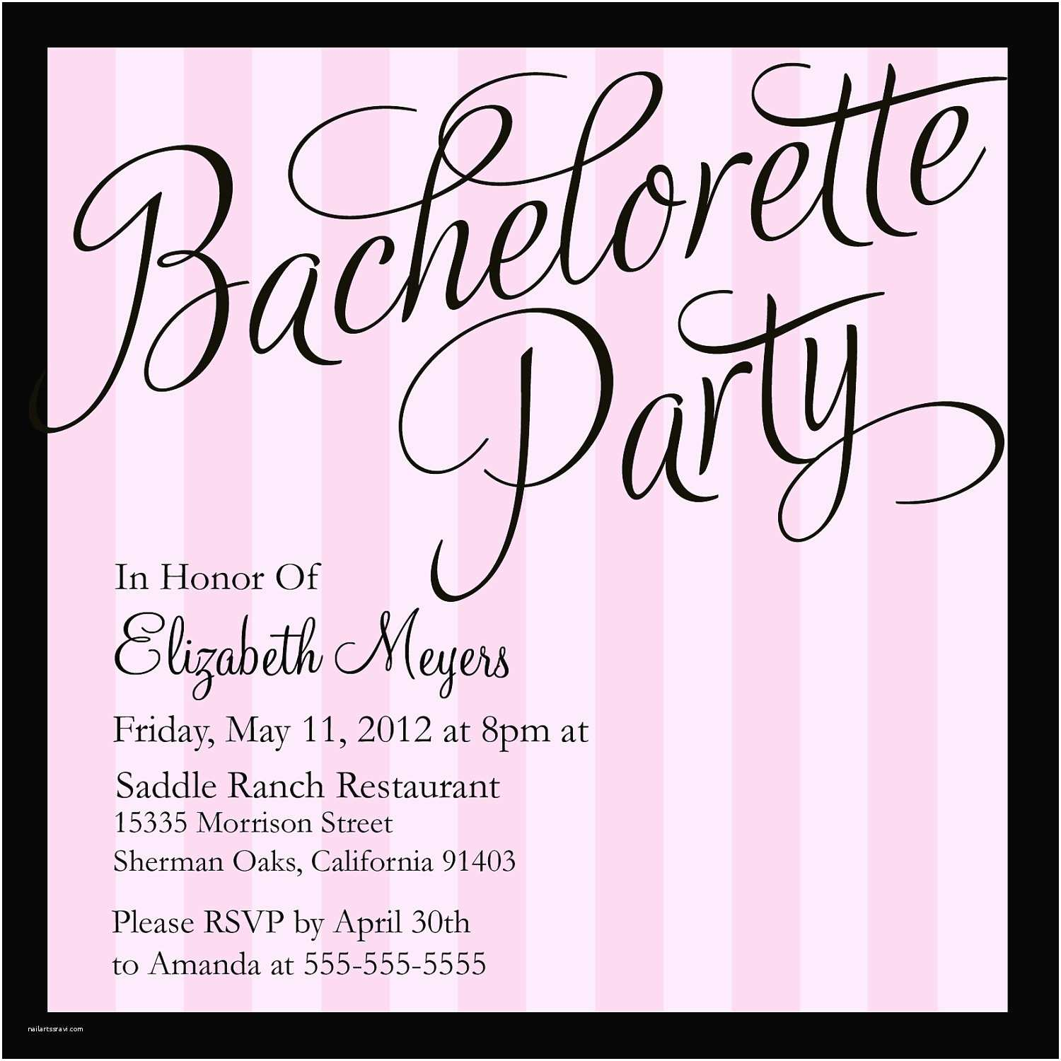 Bachelorette Party Invitation Wording Bachelorette Party Invitations Templates – Gangcraft