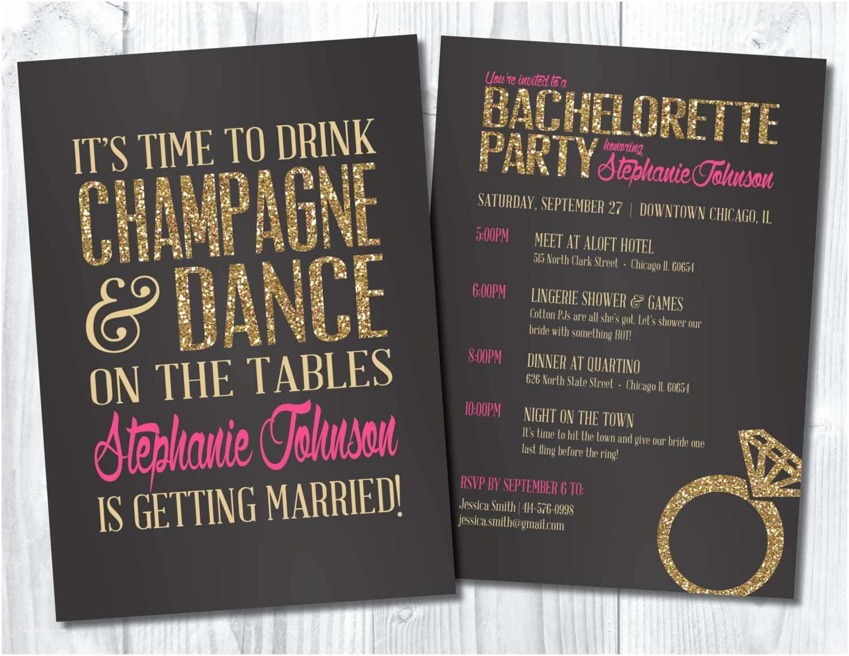 Bachelorette Party Invitations Bachelorette Invitation Bachelorette Party by Sweetbeeshoppe