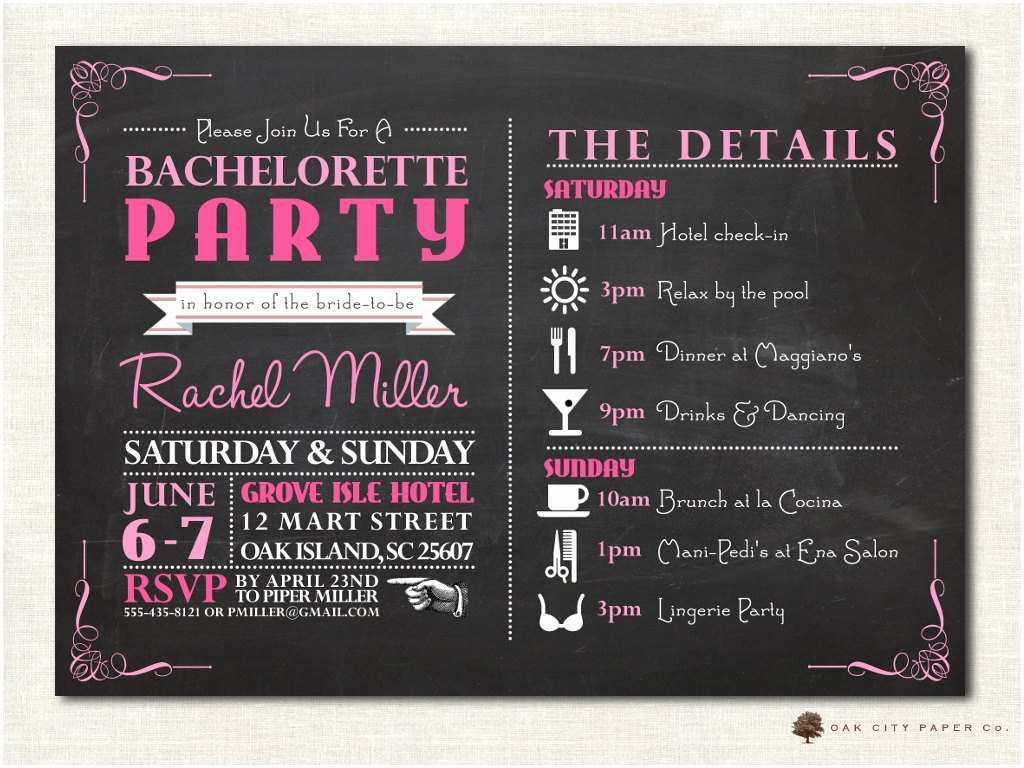 Bachelorette Party Invitations Bachelorette Invitation Bachelorette Party Invitation