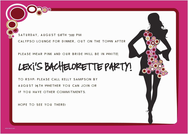 Bachelorette Party Invitations Bachelorette Party Invitation Wording Modern Designs